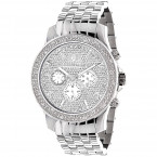 Luxurman Mens Real Diamond Watch 0.25ct