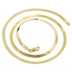 Ladies Solid 10K Yellow Gold Herringbone Chain Necklace 2.3mm