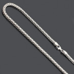 Sterling Silver Diamond Cut Franco Chain Necklace 3.5mm 36