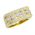 Unique Men's Diamond Ring in 14k Gold By Luxurman 2.25ct