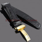 Watch Bands: Joe Rodeo Leather Watch Band 24mm Black