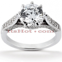 14K Gold Diamond Handcrafted Engagement Ring Mounting 0.28ct