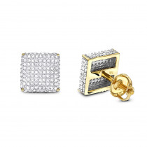 1 Carat Diamond Earrings 14K Gold Studs