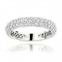 1 Carat Diamond Wedding Band for Women in 14K Gold
