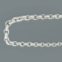10K Gold Cable Chain Eternity Diamond Necklace 52.87ct