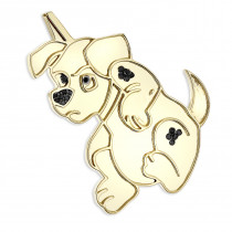 10K Gold Custom Jewelry: Real Diamond Dog Pendant: Dalmatian Puppy 0.15ct