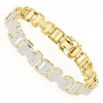 10K Gold Diamond Bracelet 3.22ct