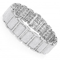 Real Diamond 10K Gold Mens Iced Out Bracelets Collection Piece 13.5ct