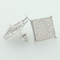 10K Gold Round Diamond Earrings 0.82ct