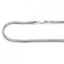 10K Solid White Gold Franco Chain 26-40in 3.5mm