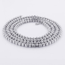 10K White Gold Moon Cut Chain 5mm 22-40in