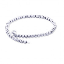 10K White Gold Moon Cut Chain Bracelet 5mm 7.5-9in
