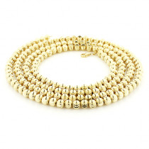10K Yellow Gold Moon Cut Chain 5mm 22-40in