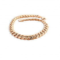 11mm Rose Gold Miami Cuban Link Chain Bracelet in 10K 7.5-9in