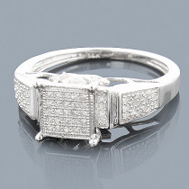 14K Affordable Diamond Engagement Ring 0.27ct