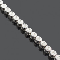 14K Bezel Set Diamond Chain Necklace 5.28ct