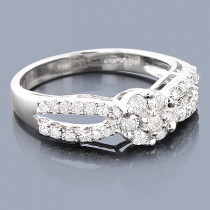 14K Cluster Diamond Engagement Ring 0.68ct