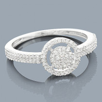 14K Cluster Flower Diamond Ring 0.27ct