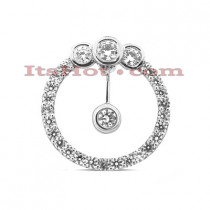 14K Cut-Out Diamond Circle Pendant 0.67ct