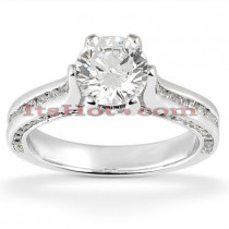 14K Designer Diamond Engagement Ring 1.43ct