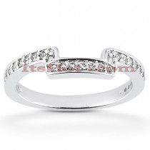 Thin 14K Designer Diamond Engagement Ring Band 0.23ct