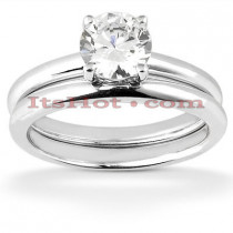 14K Designer Diamond Engagement Ring Set 0.12ct