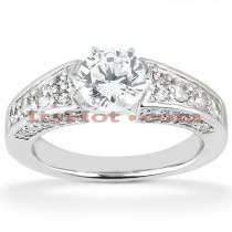 14K Designer Diamond Engagement Ring Setting 0.82ct