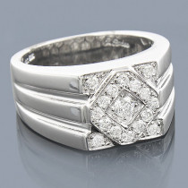 14K Designer Diamond Ring 0.65ct