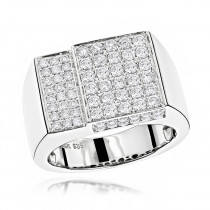 14K Designer Diamond Ring 1.55ct