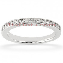 Thin 14K Designer Diamond Wedding Band 0.20ct