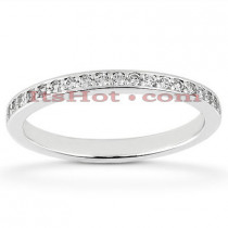 Thin 14K Designer Diamond Wedding Band 0.21ct