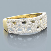 14K Gold Ladies Diamond Circle Ring 0.33ct