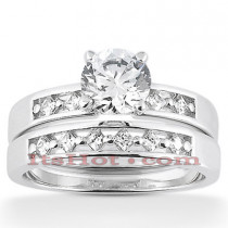 14K Diamond Designer Engagement Ring Set 0.80ct