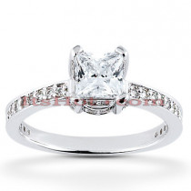 14K Diamond Engagement Ring 0.88ct