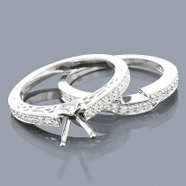 14K Diamond Engagement Ring Mounting Set 0.51ct