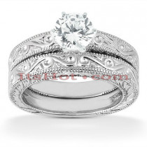 14K Diamond Engagement Ring Set 0.50ct