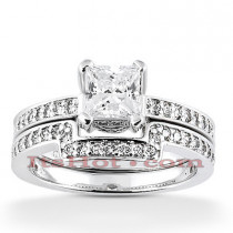 14K Diamond Engagement Ring Set 1.11ct