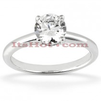 14K Round Diamond Engagement Ring Setting 0.12ct