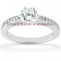 14K Diamond Engagement Ring Setting 0.18ct