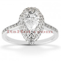 Halo 14K Diamond Engagement Ring Setting 0.47ct