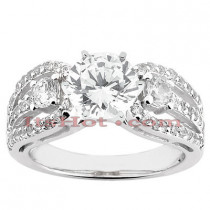 14K Diamond Engagement Ring Setting 0.68ct