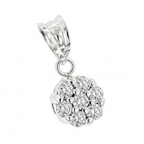 14K Diamond Flower Pendant 0.50ct