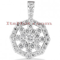 14K Diamond Snowflake Pendant 1.64ct
