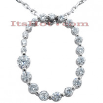 14k Gold 21 Stone Diamond Journey Necklace 0.50ct