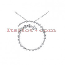 14k Gold 33 Stone Diamond Journey Necklace 1.50ct