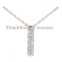 14K Gold 4 Stone Diamond Journey Necklace 0.40ct