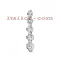 14K Gold 5 Stone Diamond Journey Necklace 0.50ct