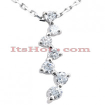 14k Gold 7 Stone Diamond Journey Necklace 2.50ct