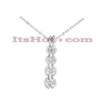 14k Gold Designer 5 Stone Diamond Journey Pendant 2.50ct