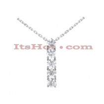 14k Gold 5 Stone Diamond Journey Pendant 3.75ct